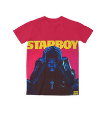 2 Styles Real AMERICAN US size Custom made Starboy x The Weeknd 3D Sublimation print T-shirts plus size