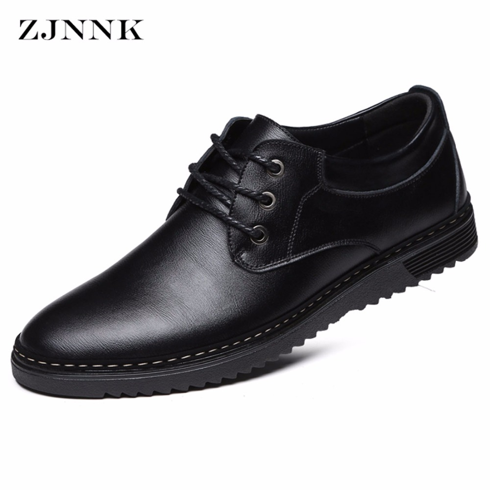 ZJNNK Classic Men Casual Flats Leather Shoes Handmade Fashion Chaussure Homme Zapatos Hombres Lace-Up Male Shoes 3115<br>