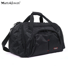 High Quality Waterproof Black Tote Shoulder Travel Bags Men Large Capacity Oxford Luggage Bag Durable Multi Pocket Travels Bag