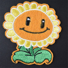 Women/Men/Kids/Baby Sunflower Iron on patches for clothing deal with it Applique embroidery flower patch Stickers for clothes