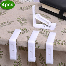 4Pcs/Set Practical Tablecloth Clamps Plastic Stainless Steel Spring Table Cover Holder For Wedding Party Picnic Clamp Tool --M25