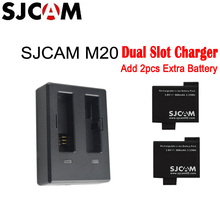 New Arrived - Original SJCAM Brand M20 Dual-Slot Battery Travel Charger for M20 Sports DV Camera