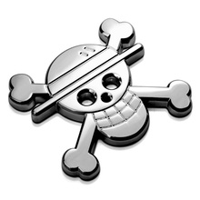 Skull Straw Hat Pirates Group ONE PIECE HO 3D 100% Metal Refit Car Auto Chrome Badge Logo Emblem Sticker Accessories Car-Styling