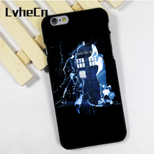 LvheCn phone case cover fit for iPhone 4 4s 5 5s 5c SE 6 6s 7 8 plus X ipod touch 4 5 6 TARDIS WHITE PAINT DOCTOR WHO(China)