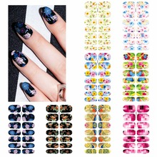 ZKO 1 Sheet Water Transfer Foil Nails Sticker Butterfly Flower Design Nails Stickers Nails Styling Tools Water Film Paper Decals(China)