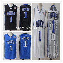 Kyrie Irving #1 Duke Blue Devils College Throwback Basketball Jersey Stitched any Number and name
