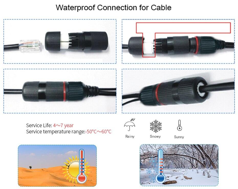 ZSVEDIO CCTV Monitor IP Camera Wi-fi IP Cameras Wifi Outdoor Alarm System Waterproof Wireless NVR 720P960P1080P 2MP HD Webcam (12)