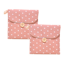 Special Cotton Napkin Bag Health Bag Cute Cartoon Cloth Sanitary Napkins Sanitary Pad Storage Bag 11.5X11.5Cm(China)