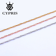 WHOLESALE new fashion jewelry  necklace chain  rose gold necklace lose money promotion hot sale ripple craft sexy 1.5mm