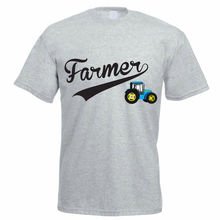 New 2017 Fashion Hot Short Farmer Tractor Agriculture Farming Gift Funny New Style Crew Neck Tee Shirt For Men