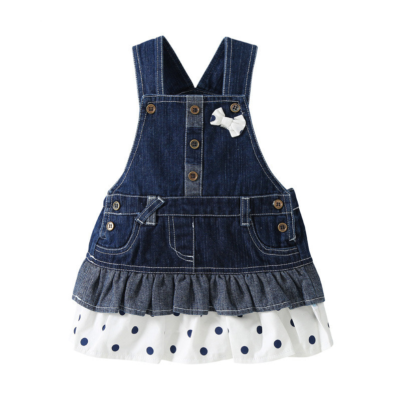 0-3 Year Children Girls Denim Dress Overalls 2017 Spring Autumn Style Kids Girl Jean Bow Straps High Quality Kids Clothes<br><br>Aliexpress