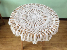 Hand Crochet Pineapple Flower Round Tablecloths 85CM Cotton Table cloth Wedding Decoration Mats Cover cloth  Home Textile