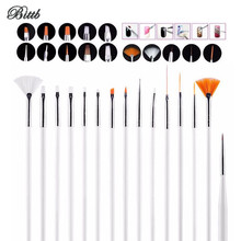 Bittb 15pc/Set Nail Makeup Brush Tools Beauty Nail Art Decoration Print Polish Drawing Brush Stone Dotting Tool Nail Brush Set