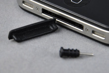 For Apple iphone 4 / 4S dust plug headphone Design cell phone Mobile phone Dustproof Anti Dust Earphone Dirt-resistant