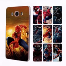 spider man transparent clear hard case cover for Samsung Galaxy J7 J5 J3 J2 J1 J7 2016 J7Prime J5 2017 J2Prime(China)