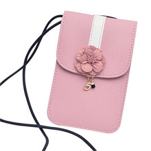 Women Flowers Appliques messenger bags girl/kid/teenagers/ Fashion small mini leather handbags Flowers phone Shoulder Bag 2017(China)