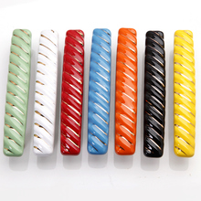 3.75'' Colorful Ceramic Kitchen Drawer Pull Handles Cabinet Door Handles Cupboard Handle Red BlackcCabinet Decorative Hardware