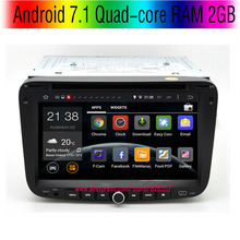 free shinpping Android 7.1 Quad-core RAM 2GB Car DVD Player For GEELY Emgrand EC7 2013 With 3G/wifi USB GPS BT