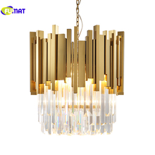 K9 Crystal Pendant Lights Postmodern Creative Suspension Lightings Villa Hotel Hanging Lights Crystal Design E14 5 Lights