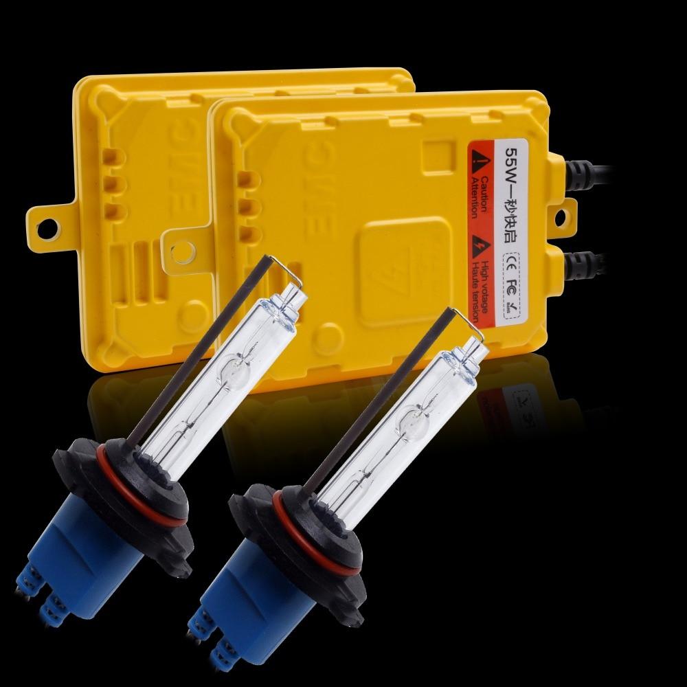 55W HID Xenon Conversion Kit Fast Bright H1,H7,H3,HB3,HB4 ,H11,H27 Single beam HID kit,H4,H13,9007 Bi-xenon HID kit car headlamp<br>
