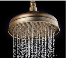 fashion High quality bronze total brass water save 9'rainfall shower head water saving bath shower head