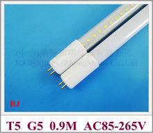 AC85-265V input T5 G5 LED tube light lamp fluorescent LED light 0.9M 900mm 3FT SMD2835 66led 13W 1400lm T5 high bright CE