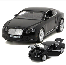 Bentley Continental GT 1:32 car model alloy original kids toy pull back sound light Luxury supercar gift boy free shipping