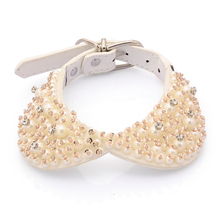 Dog Collar Bling Bling Collar Puppy Cute White Pearl Collar Best Gift For Dog Can Adjustable Dog Collar For Small Large Dog
