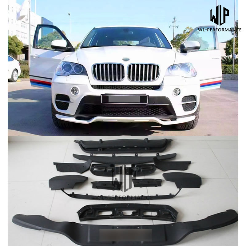 Fits for 2011-2013 BMW X5 E70 LCI M Sport Performance Style Front Rear Bumper Lip Spoiler Full Aero Kit