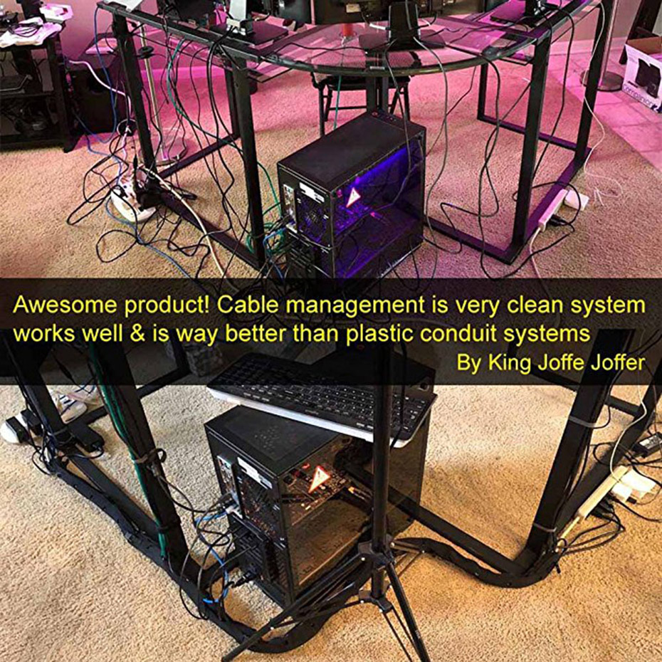 """Cable Management Sleeve II Expandable Computer Cord Organizer System 19.5/"""" 4pcs"""