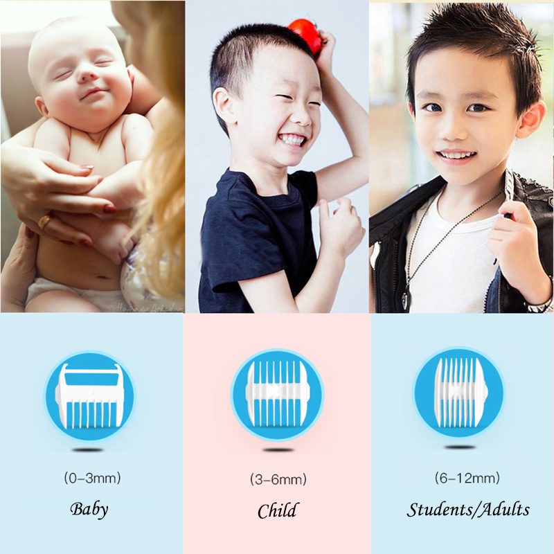 LUKBABY Baby Hair Trimmer Professional Rechargeable Hair Clipper Kids USB Charger Waterproof  Ceramic Hair Clippers YD-0520