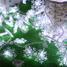 Christmas decoration lamp series supplies outdoor LED lights flashing light snow arrangement 5 meters 40 snowflakes hanging(China)