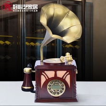 Big horn gramophone vintage antique telephone corded landline telephone Caller personality retro phone