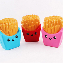 Jumbo French Fries Squishy Toys Elastic PU Stress Relief AntiStress Squishy Squeeze Toys Scented Poke it Squish it Rub it Gift
