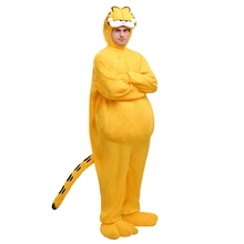 Genuine Deluxe Adult Garfield Costume Men Halloween Party Cosplay High Quality Animals Jumpsuit
