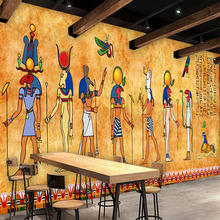 Custom 3D Photo Wallpaper Vintage Egyptian Murals Bar Restaurant Background Home Decorative Wall Painting Mural Wallpaper Art