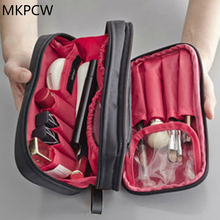 Small Cosmetic Bags Makeup Bag Women Travel Toiletry Bag Professional Storage Brush Organizer Necessaries Make Up Case Beauty(China)