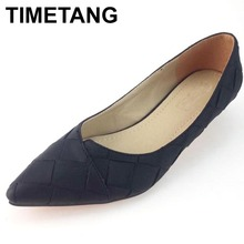 Buy TIMETANG Style Women's Pointed Toe Pumps Spring Autumn PU Shallow Slip Women Low Heel Pumps Office Lady Casual Single Shoes for $15.49 in AliExpress store