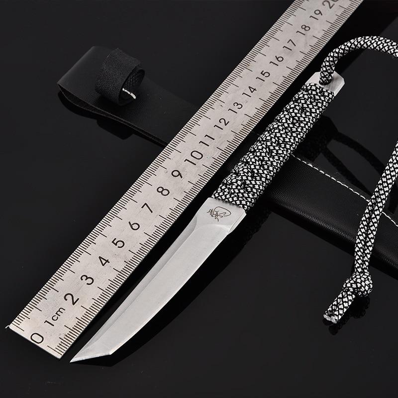 Voltron Outdoor High Hardness Straight Knife, Wilderness Knife,Self-defense Diving Knife, Jungle Survival Knife