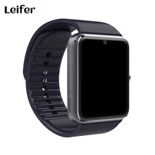 Leifer Smart Watch GT08 Clock Sync Notifier Support Sim Card Bluetooth Connectivity for Apple Iphone Android Phone Smartwatch