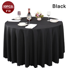 Free Shipping 10PC Elegant Polyester Linen Table Cloth Oval for Wedding Party Banquet Hotel Dining Table Decoration Table Covers