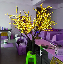 Free ship Christmas New year LED Cherry Blossom Tree light 480 pcs Bulbs 1.5m/5ft Height 110/220VAC Rainproof Outdoor Usage(China)