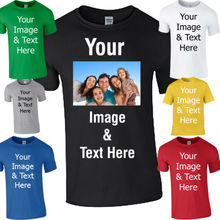 Custom Iron On T-Shirt Transfers Your Image Photo Design Personalised Birthday gift tee USA size XS-3XL