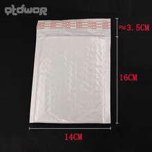 White 160x140MM 10pcs/lot High Quality Pearl Film Bubble Mailers White Padded Envelopes Bags(China)