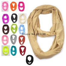 FOXMOTHER Women Black White Grey Red Solid Color  Jersey Infinity Scarf Circle Loop For Womens