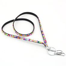 1pcs Key Holder Ring Rhinestone Crystal Bling Custom Lanyard & ID Badge Cellphone Newest