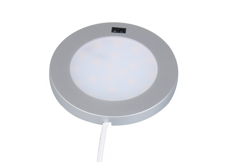 LED Under Cabinet Lights Motion Sensor Round Kitchen Cupboard Lighting Exhibition Bookshelf Furniture Night Light Counter Lamps3
