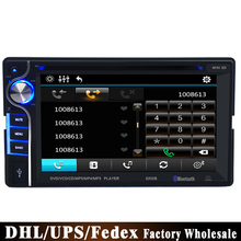 (Wholesale) 5PCS 2 DIN 6.2 inch Portable Car DVD Player +Touch Screen + Wireless Bluetooth Radio Stereo + Remote Control(China)