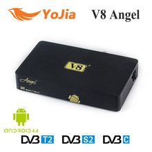 [Genuine] V8 Angel DVB-S2/T2/C Amlogic S805 Android 4.4 TV BOX with Tuner 1GB 8GB OTT IPTV Live Streaming Combo Receiver