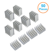 50pcs/lot Aluminum Heatsink 8.8*8.8*5mm Electronic Chip Radiator Cooler w/ Thermal Double Sided Adhesive Tape for IC,3D Printer